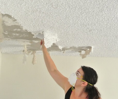 home repair popcorn ceiling removal